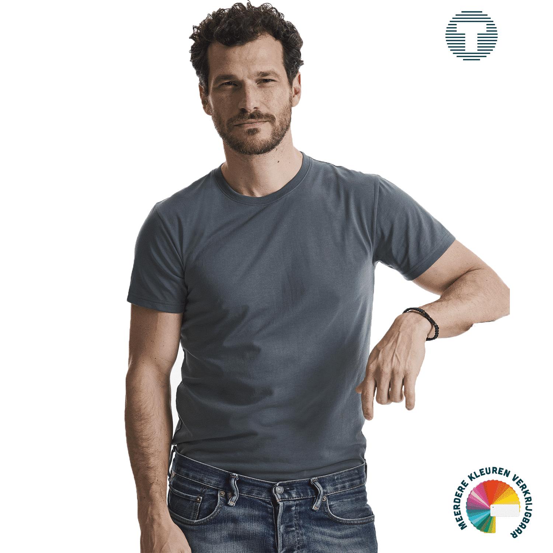 Russel premium slim fit t-shirt ontwerpen en bedrukken