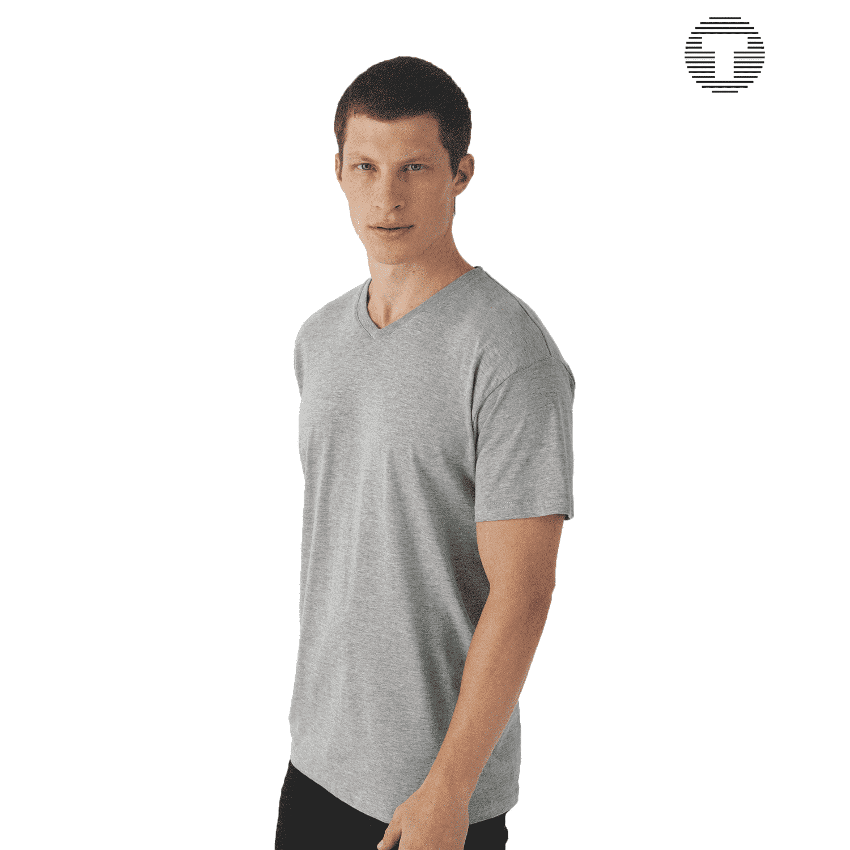 B&C v-hals t-shirt ontwerpen en bedrukken