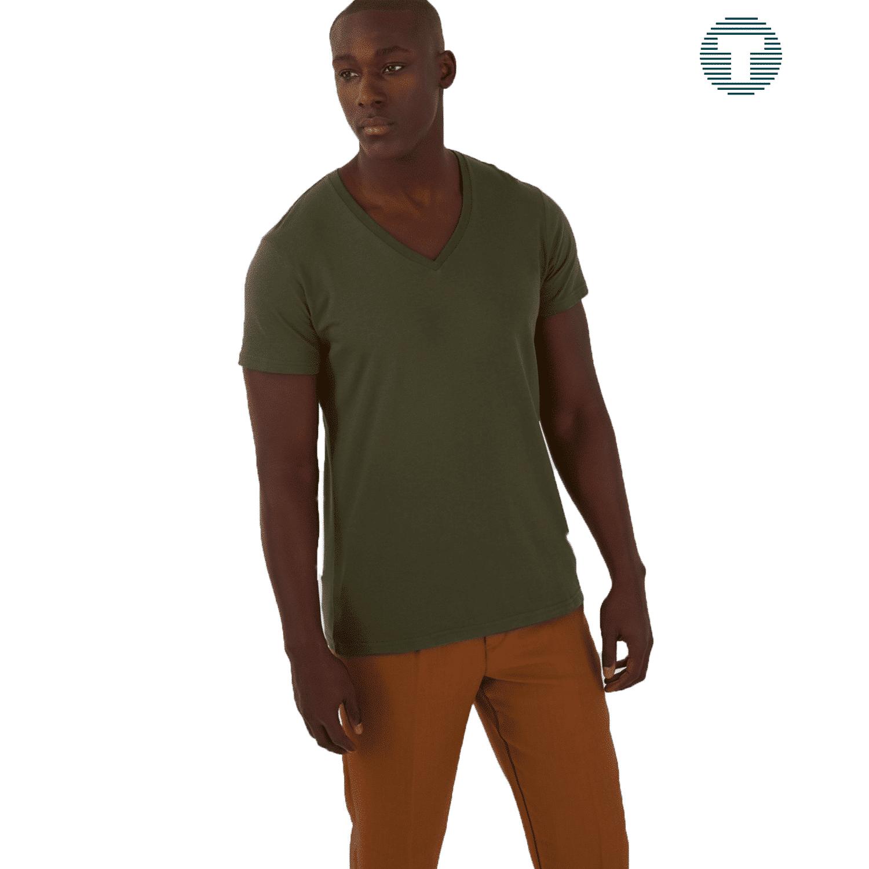 v-hals tshirt bedrukken