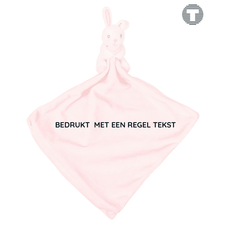 knuffelkonijn roze bedrukken