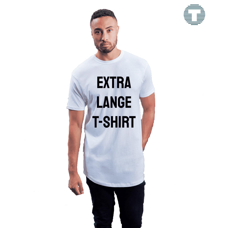 extra lange t-shirt bedrukken