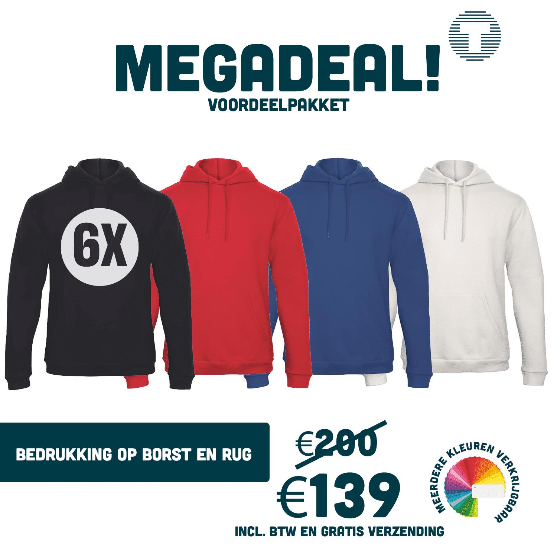 Mega hoodie deal. Hoodie bedrukken