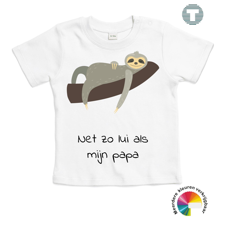 net zo lui als mijn papa vaderdag baby t-shirt