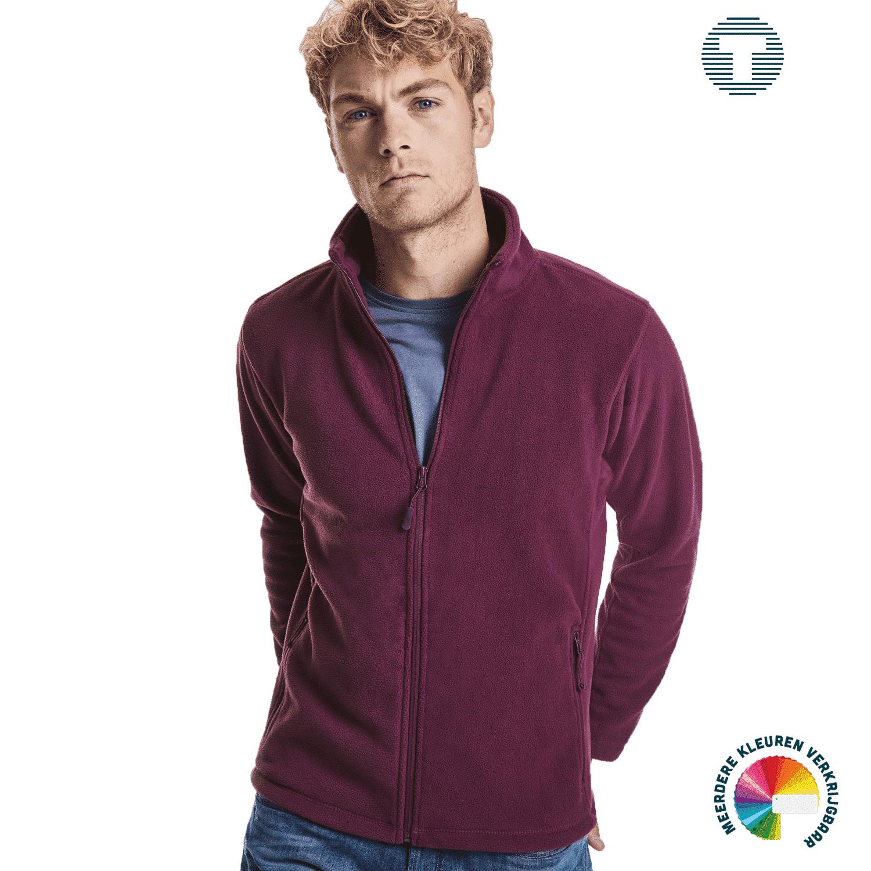 Russel outdoor fleece vest ontwerpen en bedrukken