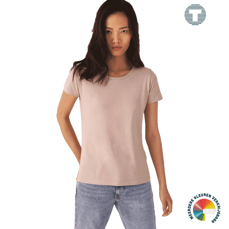 Dames t-shirt van organisch katoen ontwerpen en bedrukken