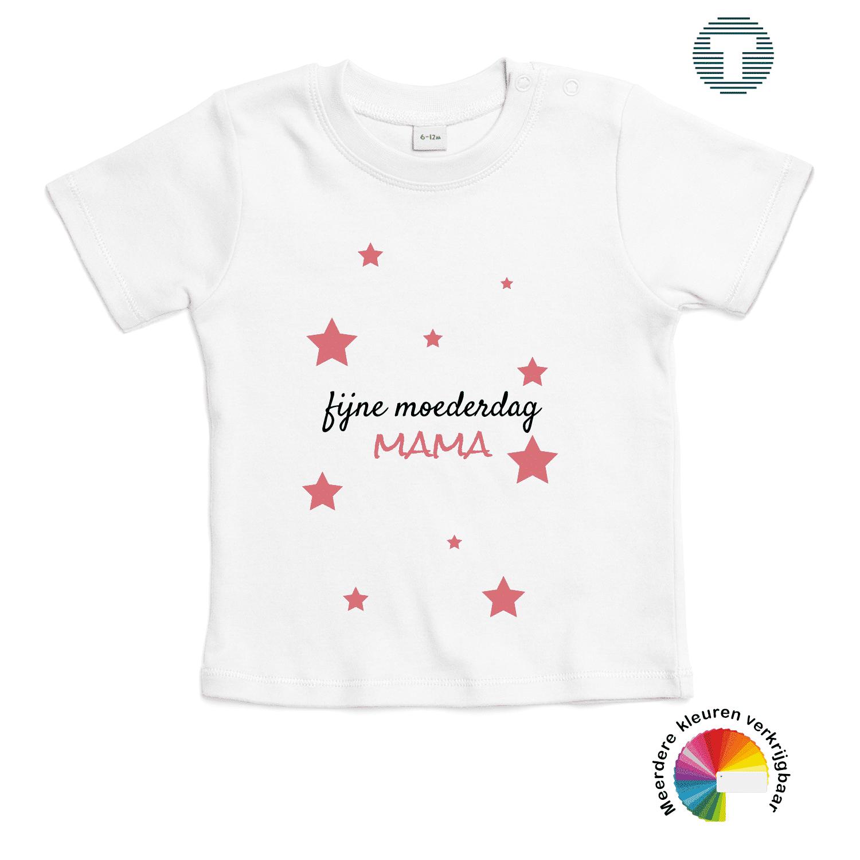 fijne moederdag mama baby t-shirt