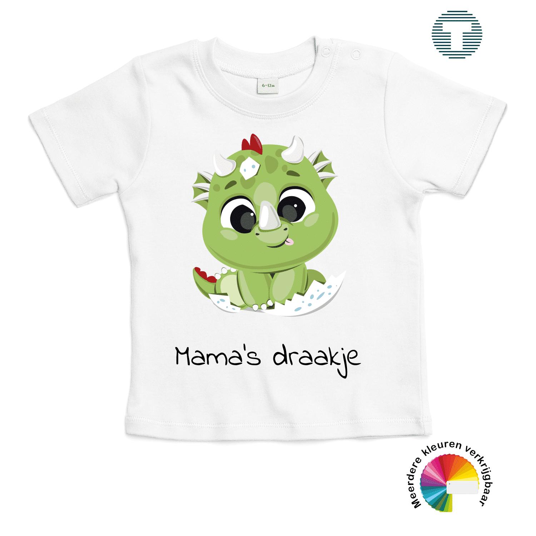 mama's draakje moederdag baby t-shirt