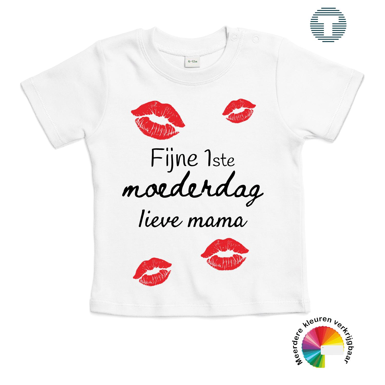 fijne 1ste moederdag mama baby t-shirt