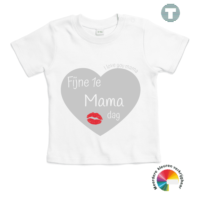 Fijne 1ste moederdag baby t-shirt