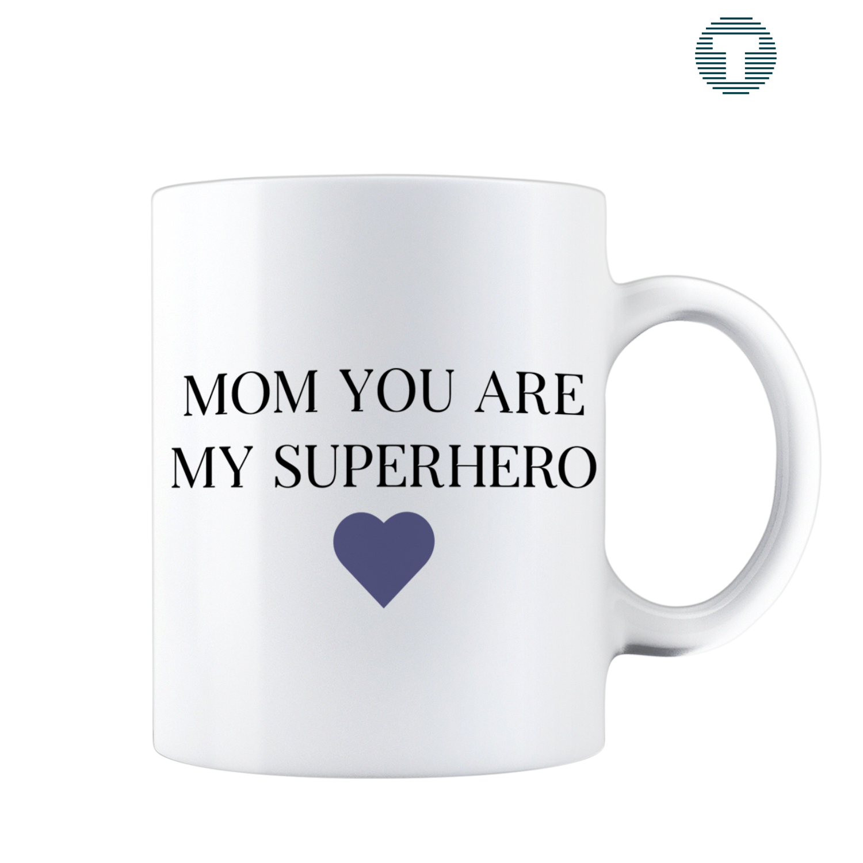 Mom you are my super hero moederdag mok