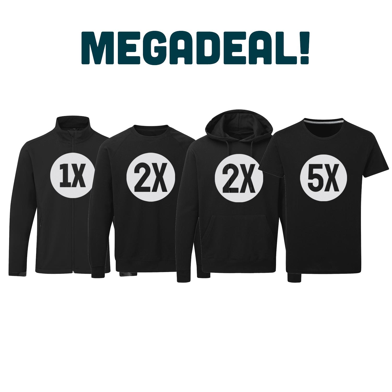 Megadeal: Starterspakket bedrukte kleding