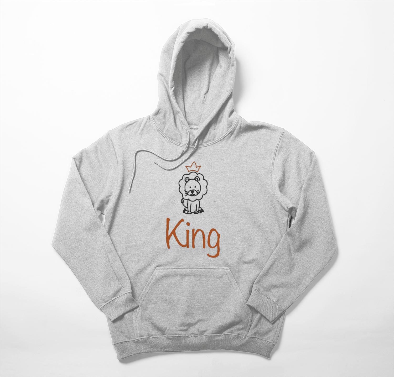 Koningsdag hoodie met leeuw