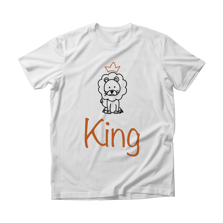 Koningsdag t-shirt met leeuw