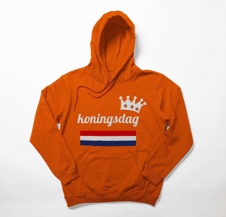 De enige echte koningsdag hoodie