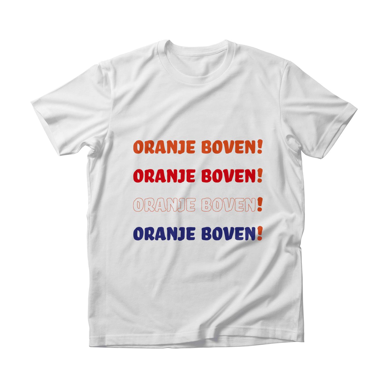Oranje boven koningsdag t-shirt